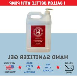 1 Gallon Gel Hand Sanitizer With Pump   75% Alcohol   Made i
