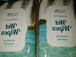 2 PKG 40 Count Wet Wipes Refreshing Waterfall Scent Personal