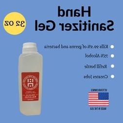 32 oz Gel Hand Sanitizer - IN STOCK - Made in the USA - 32oz