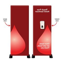 Automatic Hands-Free Sanitizer Dispenser Floor Stand