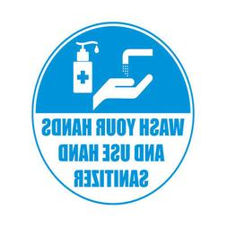Sanitizing Floor Decals Wash Your Hands and Use Sanitizer B